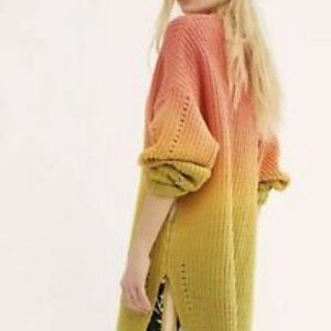 Free People Orange/Green Ombre Sweater